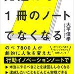 【習慣化】先延ばしは1冊のノートでなくなる/大平信孝【ビジネス本の読書メモ】