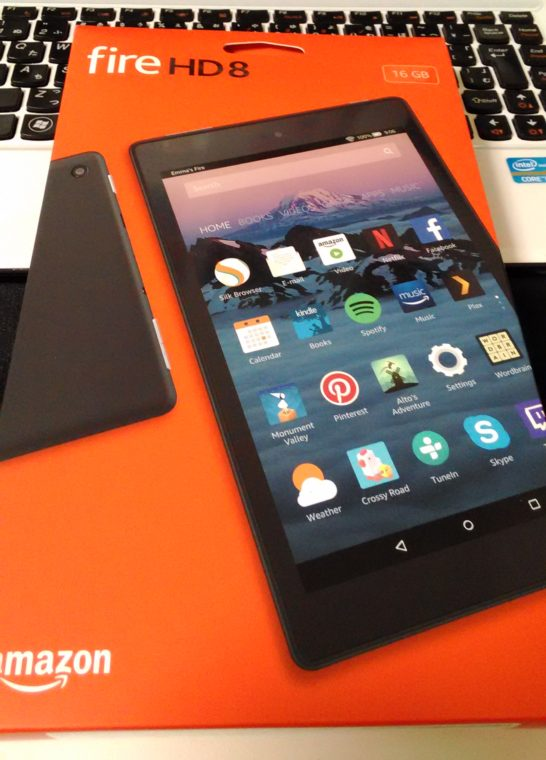 2017年Amazonで買ってよかったもの:コスパ最強のタブレット『Fire HD 8 タブレット (Newモデル) 16GB、ブラック』